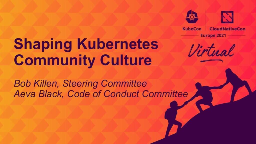 Bob Killen, Steering Committee Aeva Black, Code...