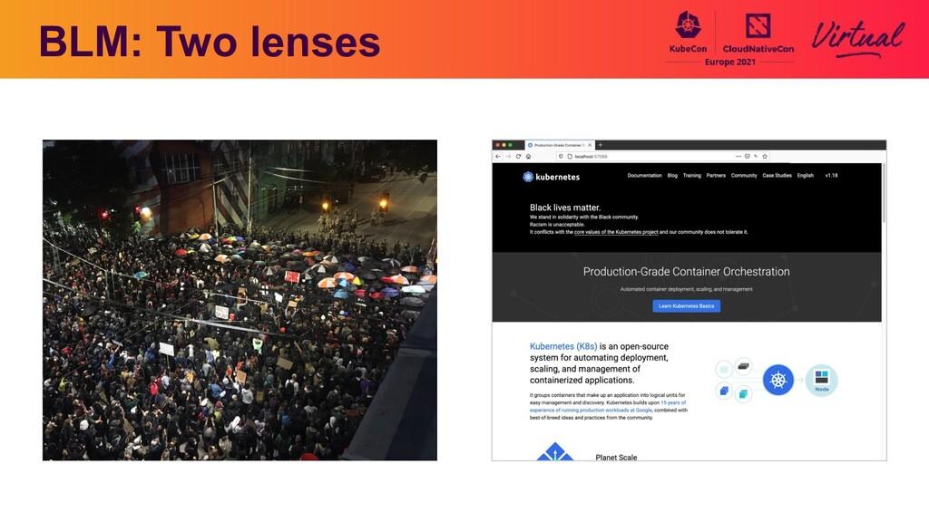 BLM: Two lenses Aeva please put a photo you too...