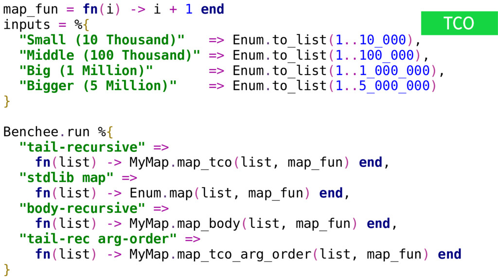"map_fun = fn(i) -> i + 1 end inputs = %{ ""Small..."