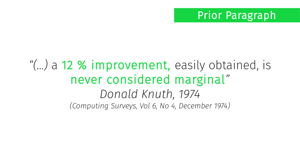 """(...) a 12 % improvement, easily obtained, is ..."