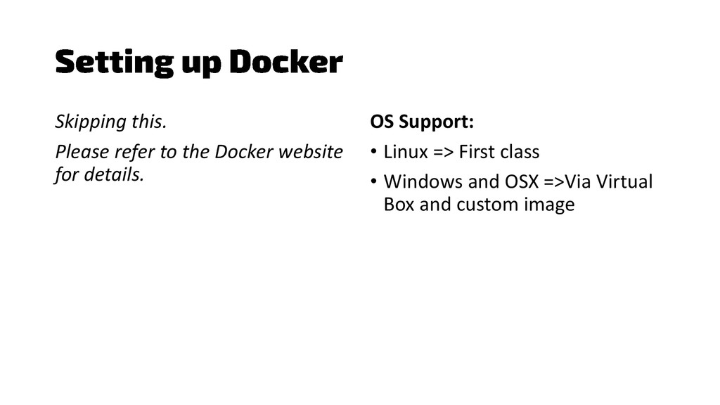 Skipping this. Please refer to the Docker websi...
