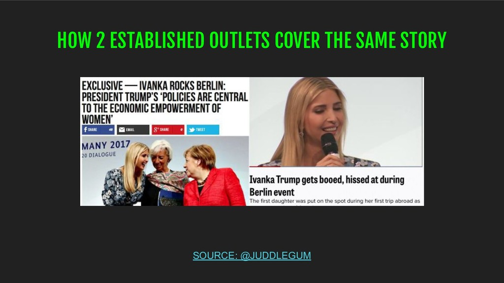HOW 2 ESTABLISHED OUTLETS COVER THE SAME STORY ...