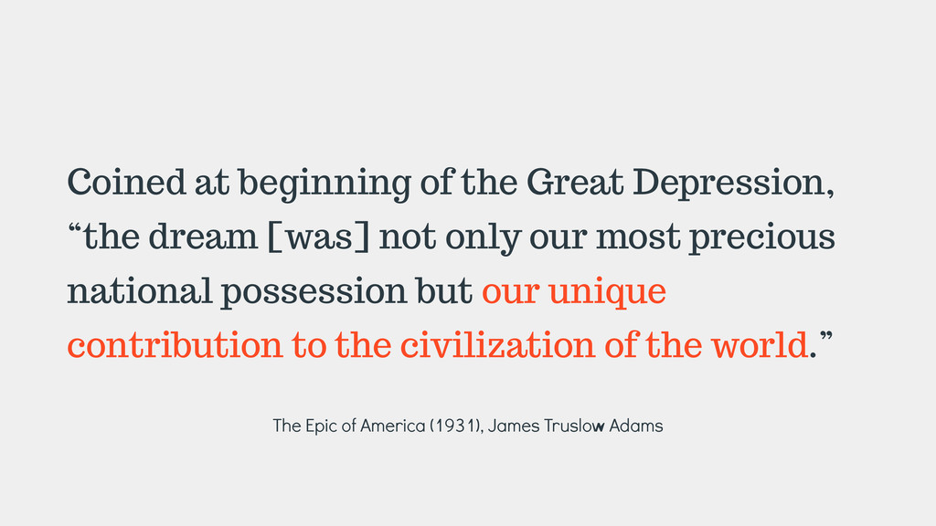 """Coined at beginning of the Great Depression, """"t..."""