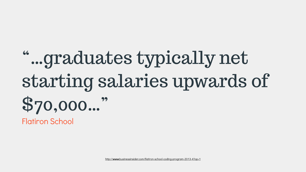 """…graduates typically net starting salaries upw..."