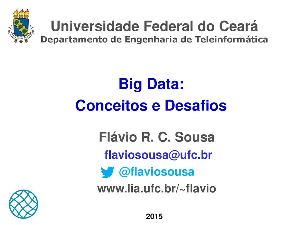 Universidade Federal do Ceará Departamento de E...