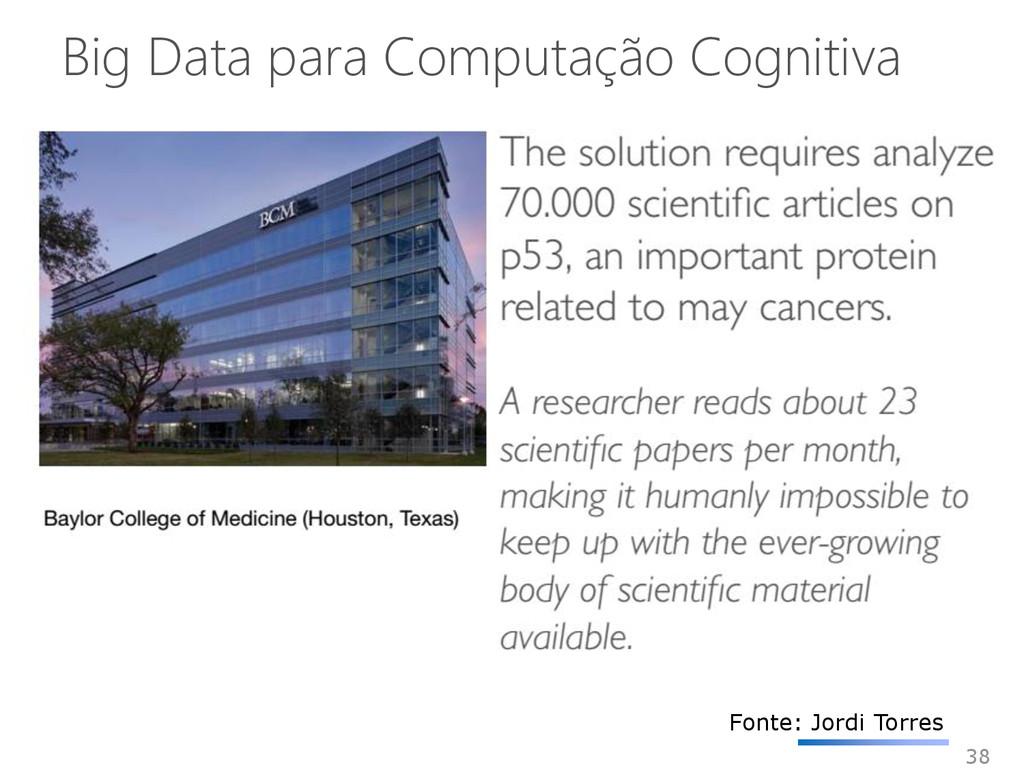 Big Data para Computação Cognitiva 38 Fonte: Jo...