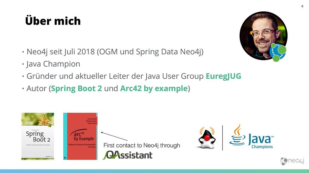 • Neo4j seit Juli 2018 (OGM und Spring Data Neo...