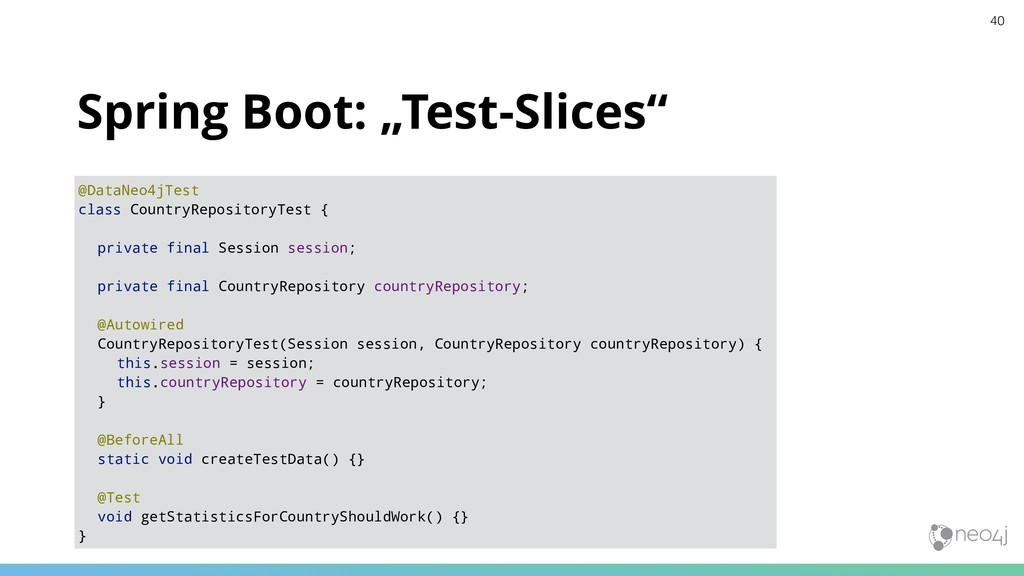 """Spring Boot: """"Test-Slices"""" @DataNeo4jTest class..."""