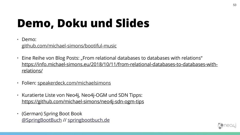 • Demo:  github.com/michael-simons/bootiful-mu...