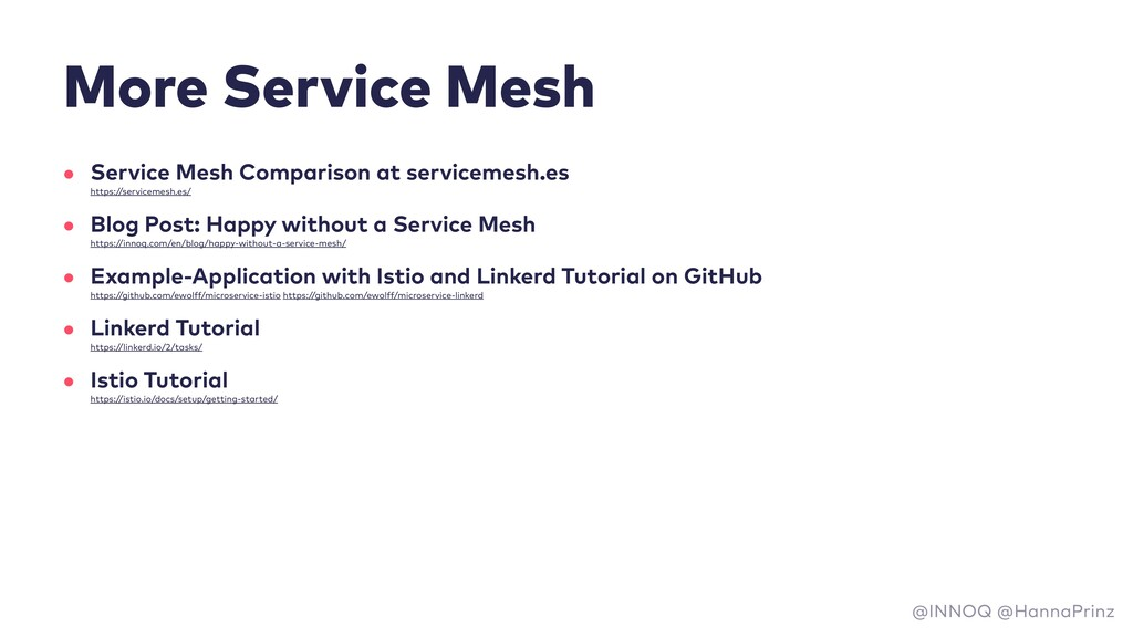 More Service Mesh • Service Mesh Comparison at ...