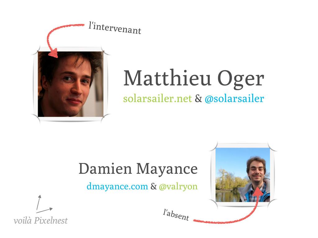 Matthieu Oger solarsailer.net & @solarsailer Da...