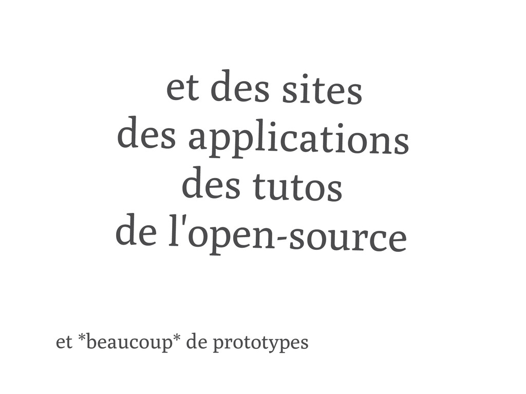 et des sites des applications des tutos de l'op...