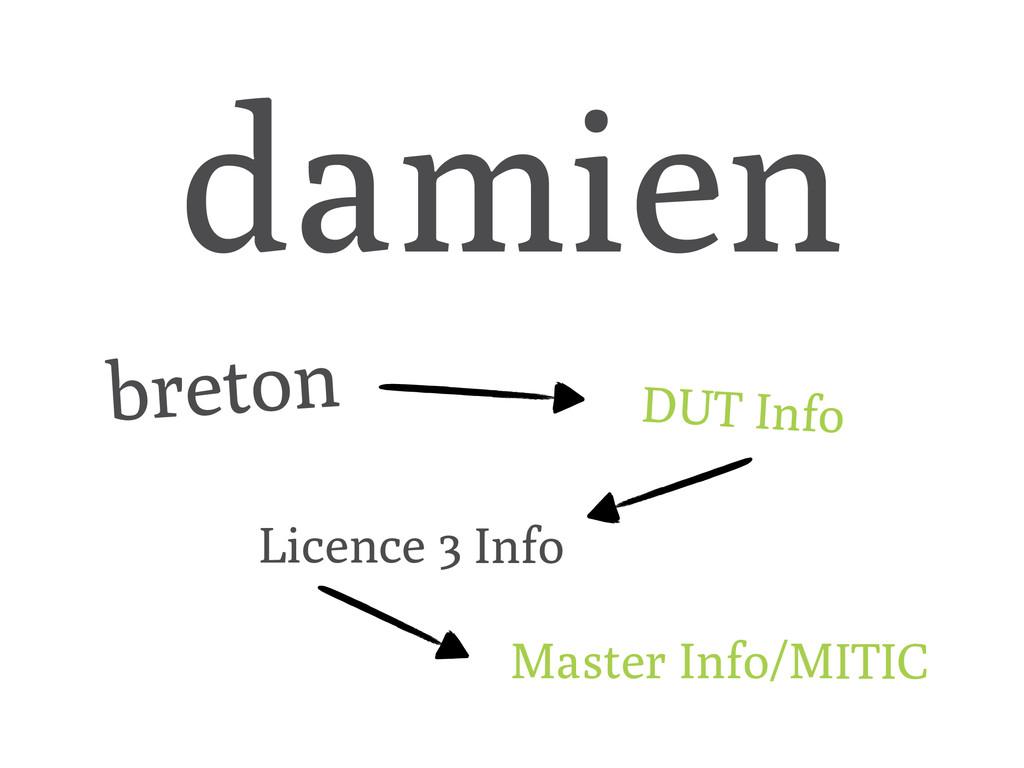 damien breton DUT Info Licence 3 Info Master In...