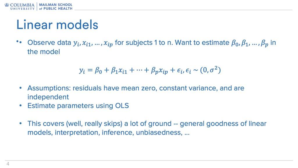 4 • Linear models