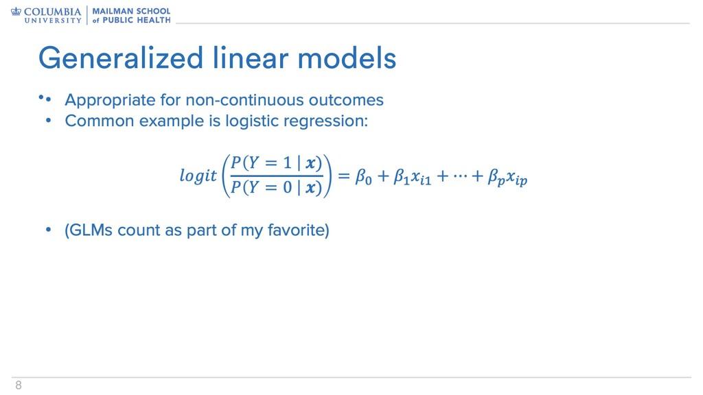8 • Generalized linear models