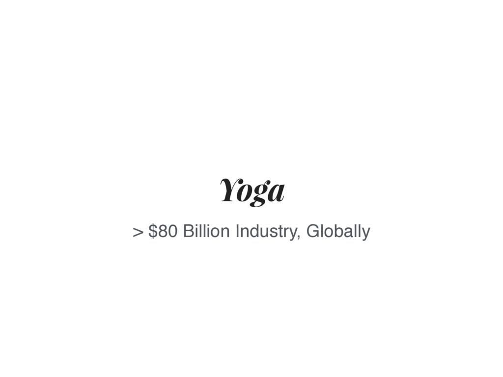 Yoga > $80 Billion Industry, Globally