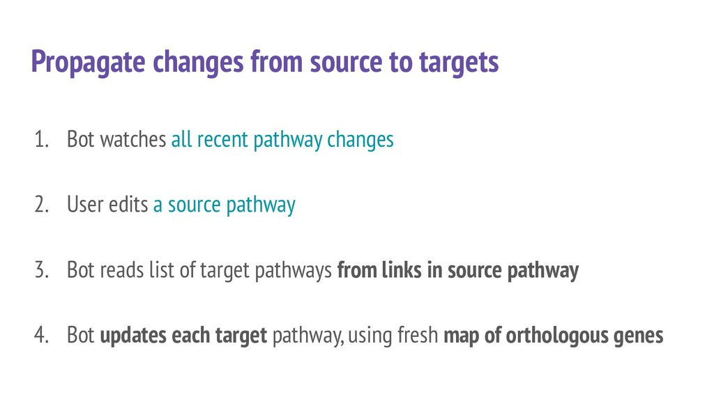 Propagate changes from source to targets 1. Bot...