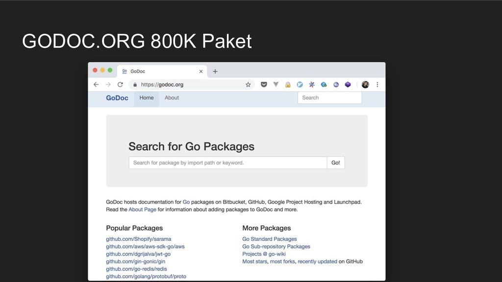 GODOC.ORG 800K Paket