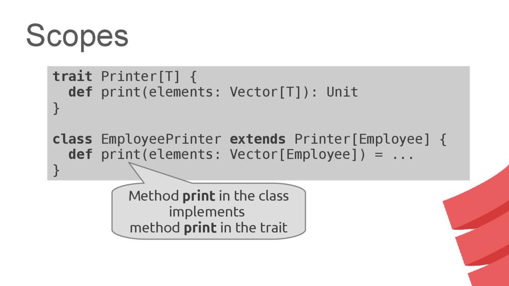 trait Printer[T] { def print(elements: Vector[T...