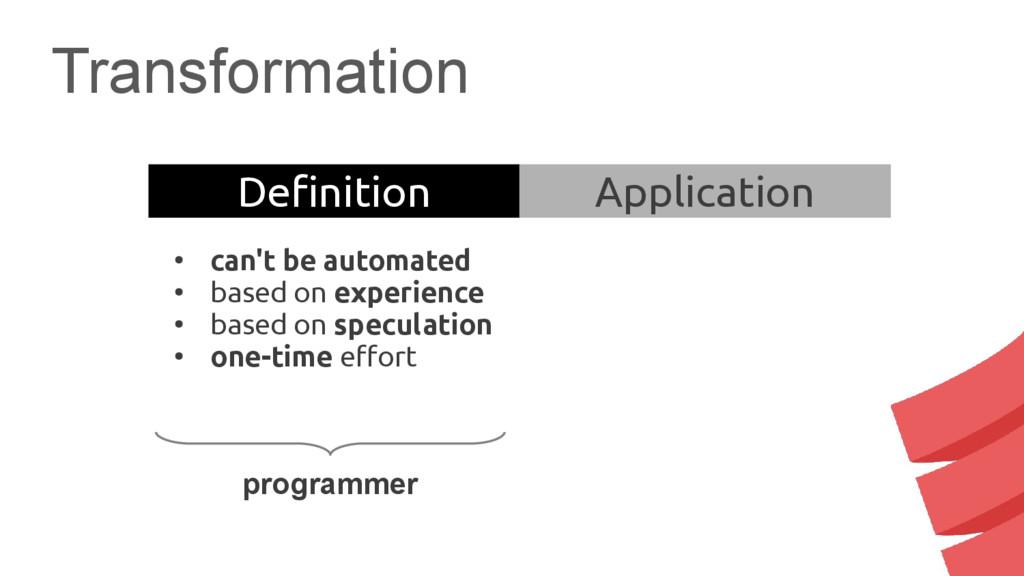 Transformation programmer Definition Applicatio...