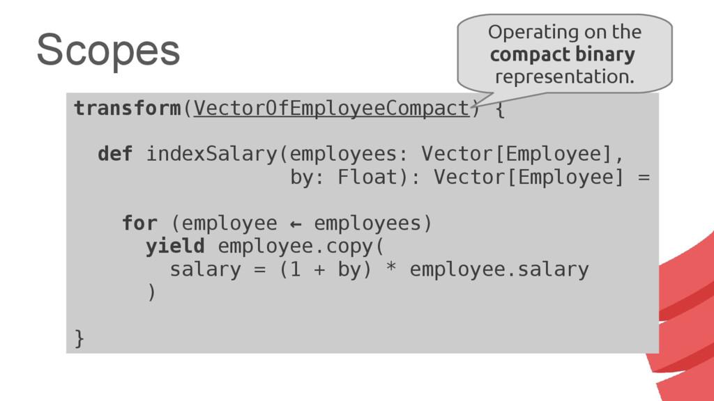 Scopes transform(VectorOfEmployeeCompact) { def...