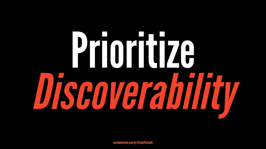 Prioritize Discoverability customlaravel.com by...