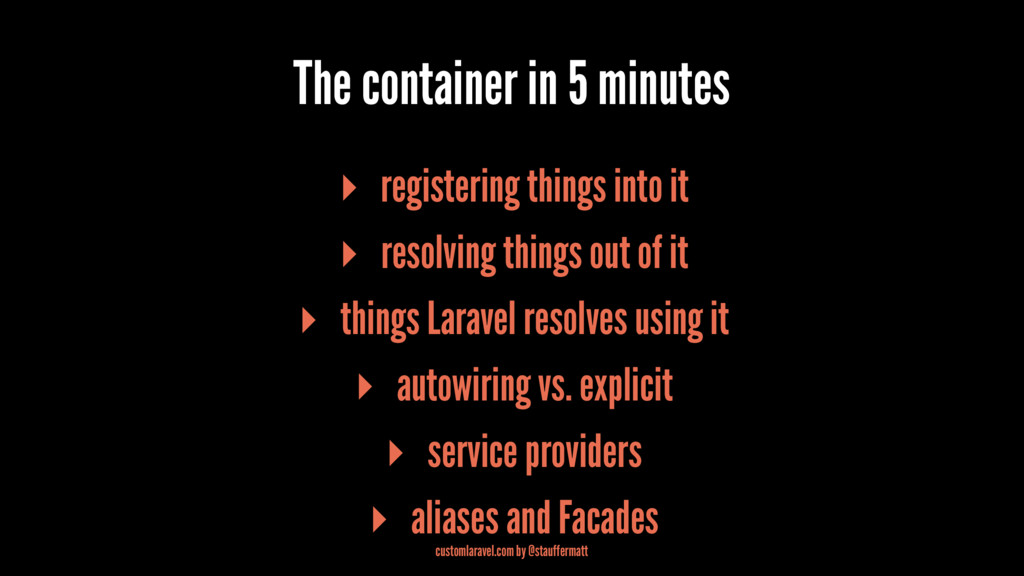 The container in 5 minutes ▸ registering things...