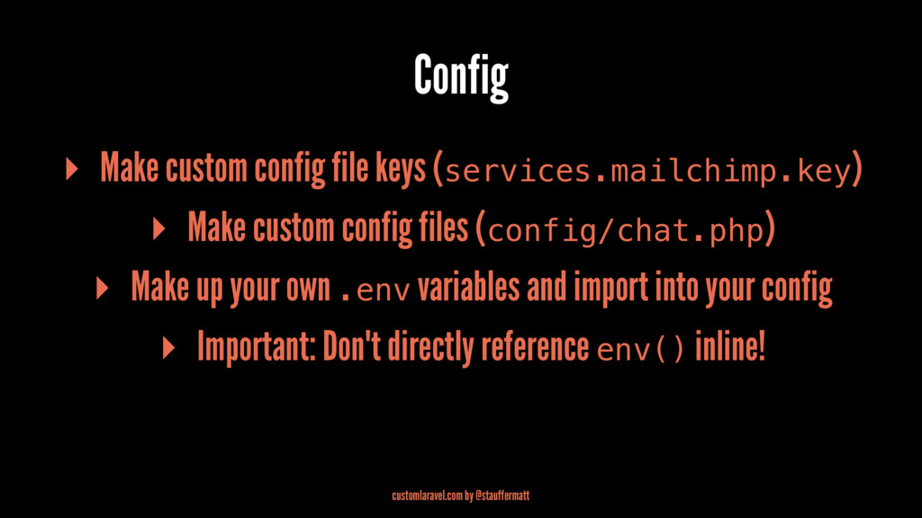 Config ▸ Make custom config file keys (services...