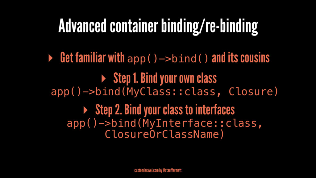 Advanced container binding/re-binding ▸ Get fam...