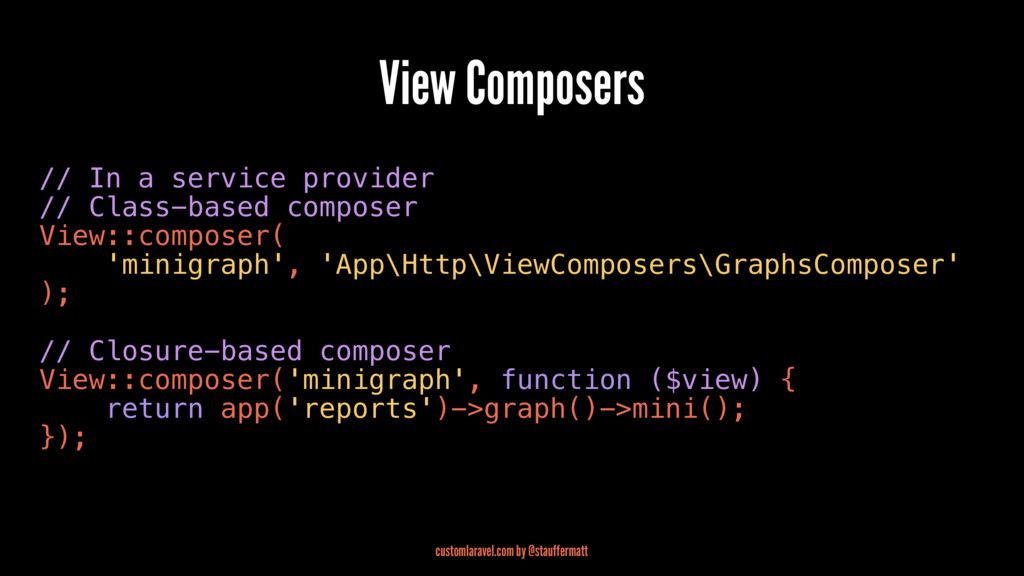 View Composers // In a service provider // Clas...