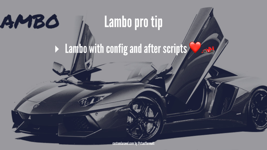 Lambo pro tip ▸ Lambo with config and after scr...