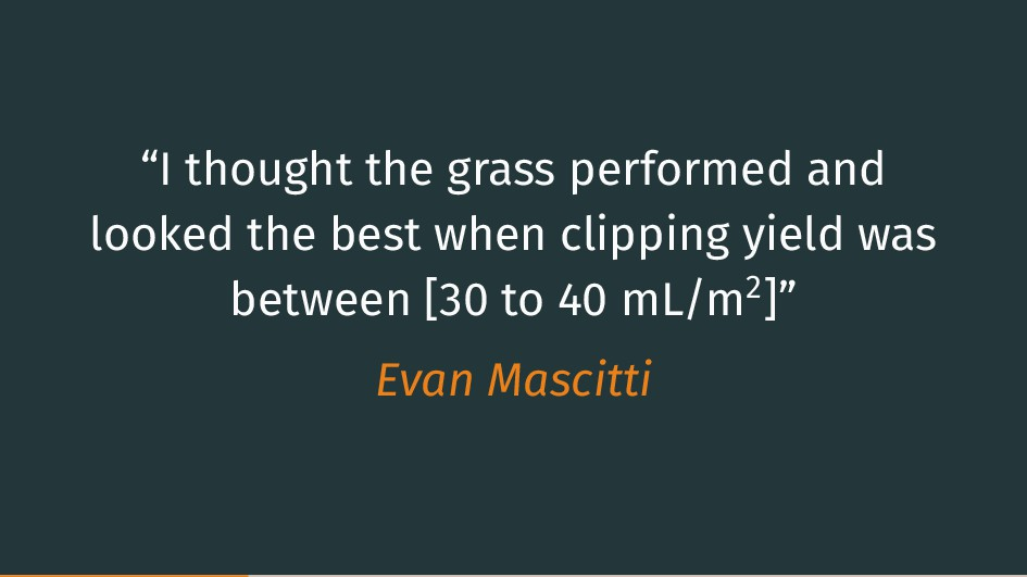 """I thought the grass performed and looked the b..."