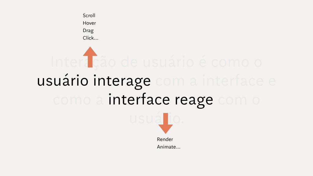 Interação de usuário é como o usuário interage ...