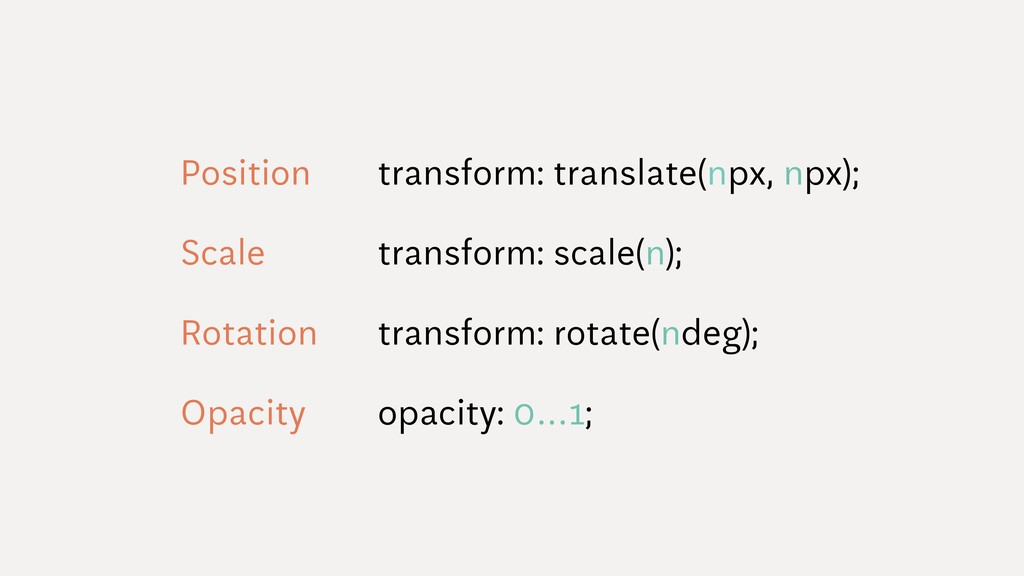 Position transform: translate(npx, npx); Scale ...