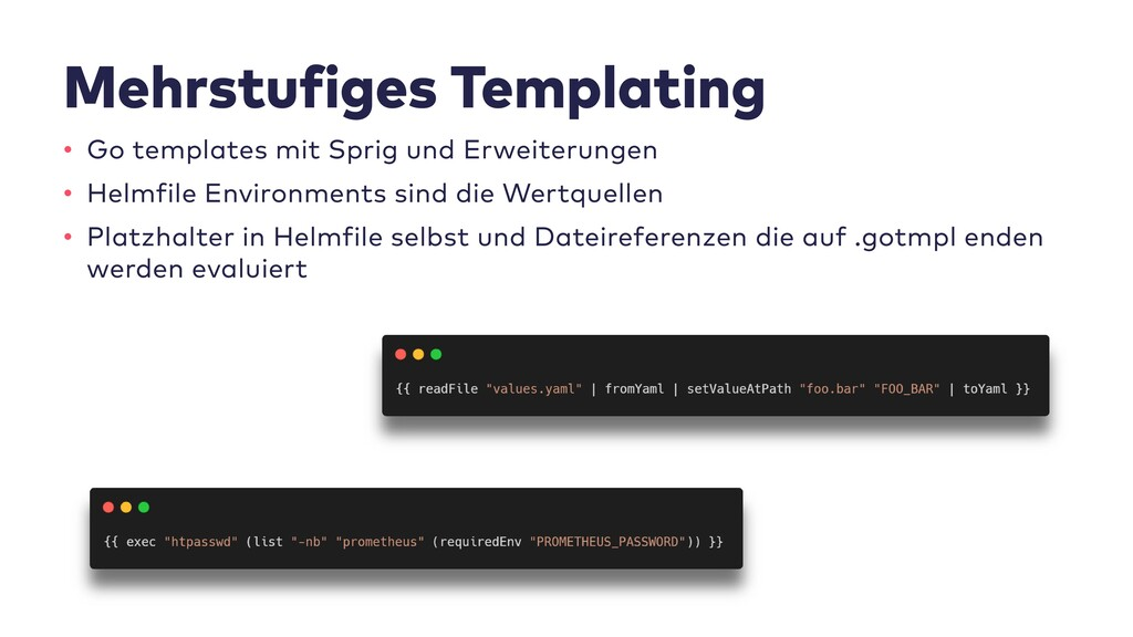 Mehrstufiges Templating • Go templates mit Spri...