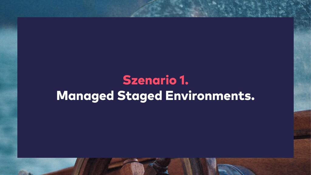 Szenario 1. Managed Staged Environments.