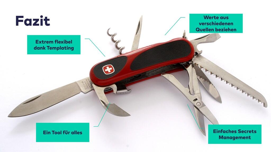 Fazit Extrem flexibel dank Templating Ein Tool ...