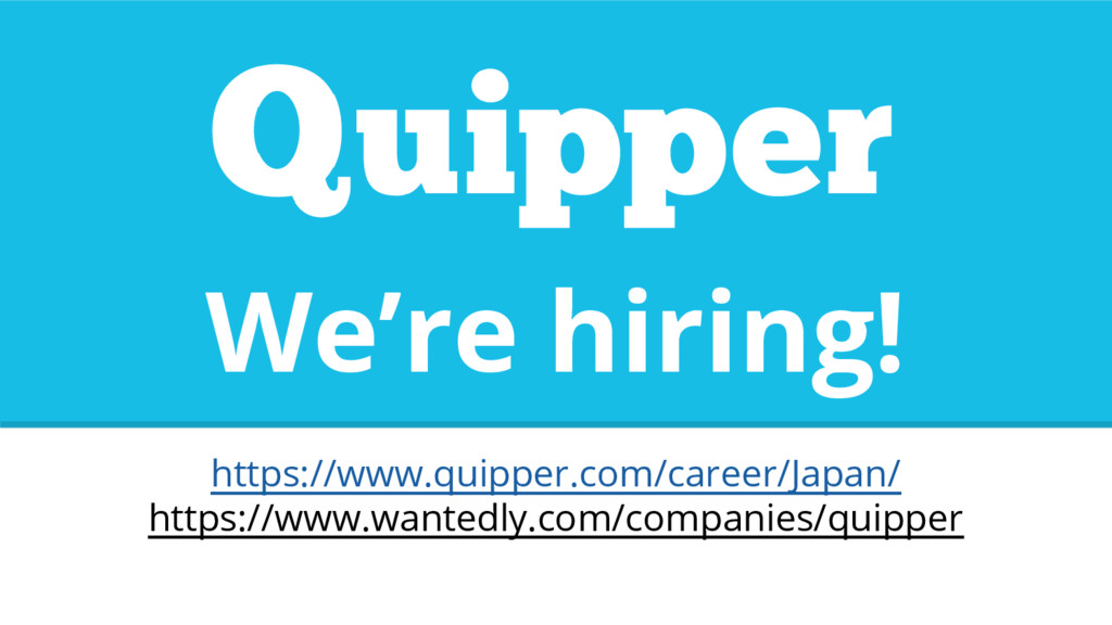 We're hiring! https://www.quipper.com/career/Ja...