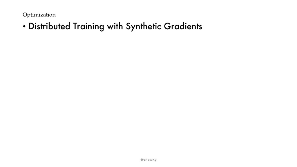 Optimization • Distributed Training with Synthe...