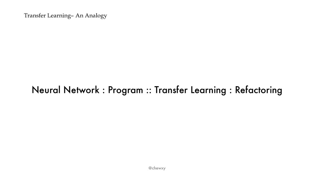 Transfer Learning– An Analogy Neural Network : ...