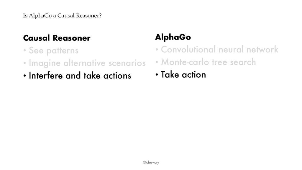 Is AlphaGo a Causal Reasoner? Causal Reasoner •...