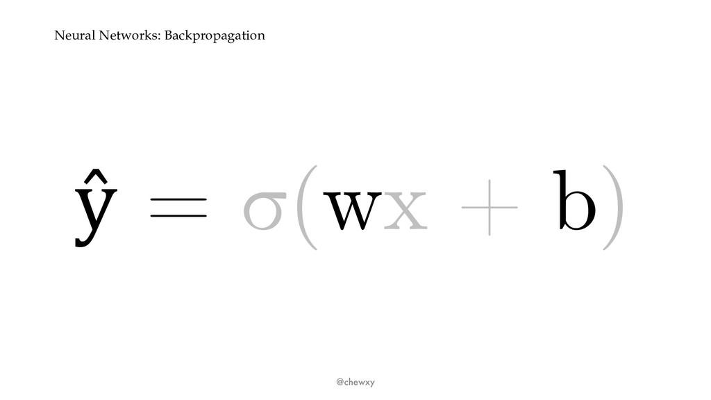 Neural Networks: Backpropagation ŷ = σ(wx + b) ...