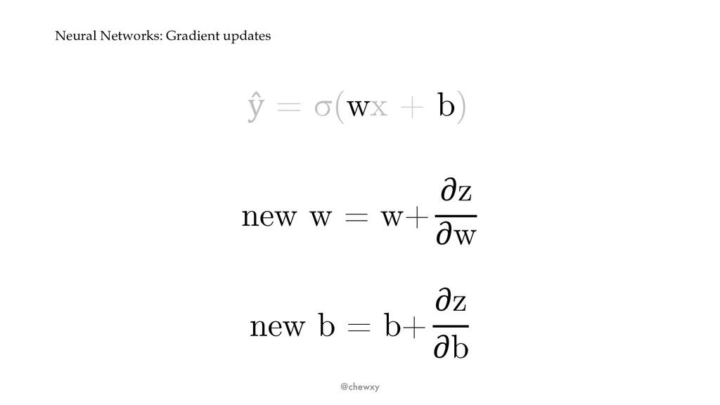 Neural Networks: Gradient updates ŷ = σ(wx + b)...