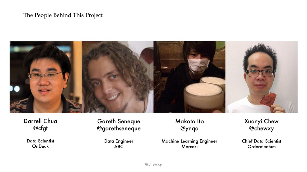 The People Behind This Project @chewxy Darrell ...