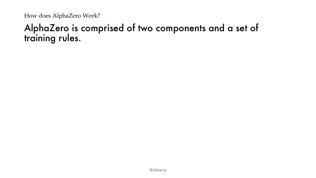 How does AlphaZero Work? AlphaZero is comprised...