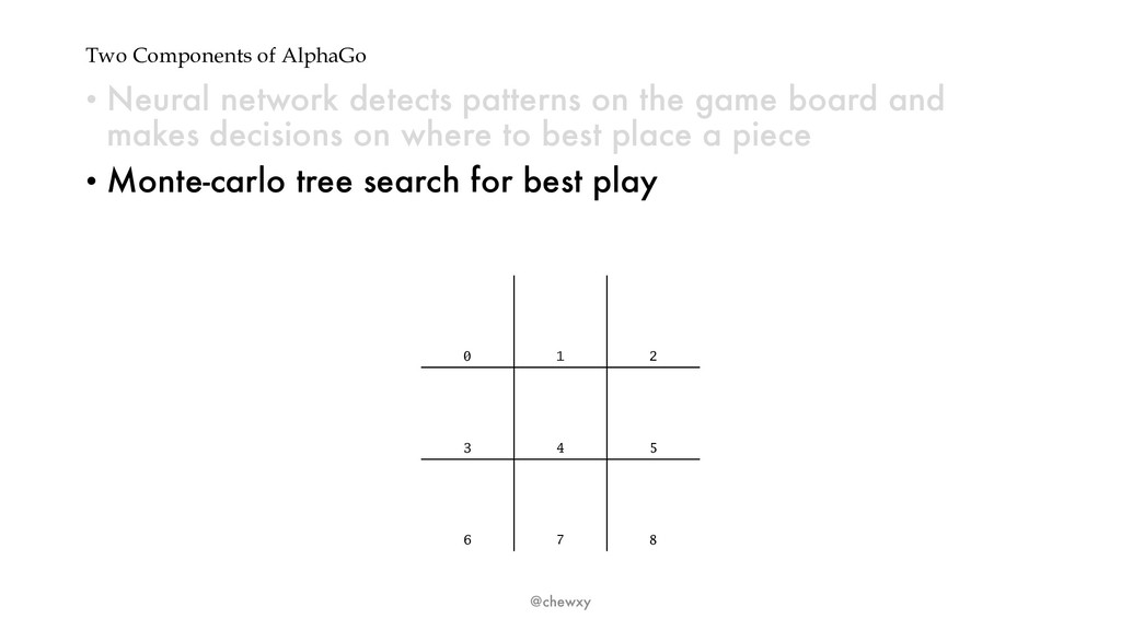 Two Components of AlphaGo • Neural network dete...