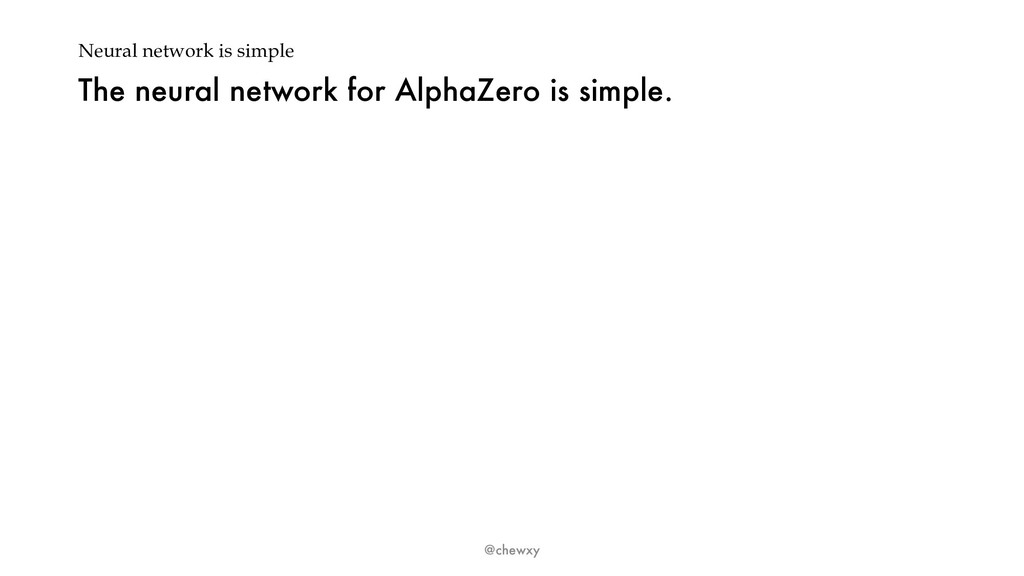 Neural network is simple The neural network for...