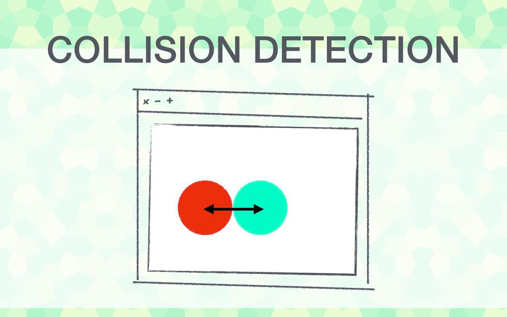 COLLISION DETECTION x - +