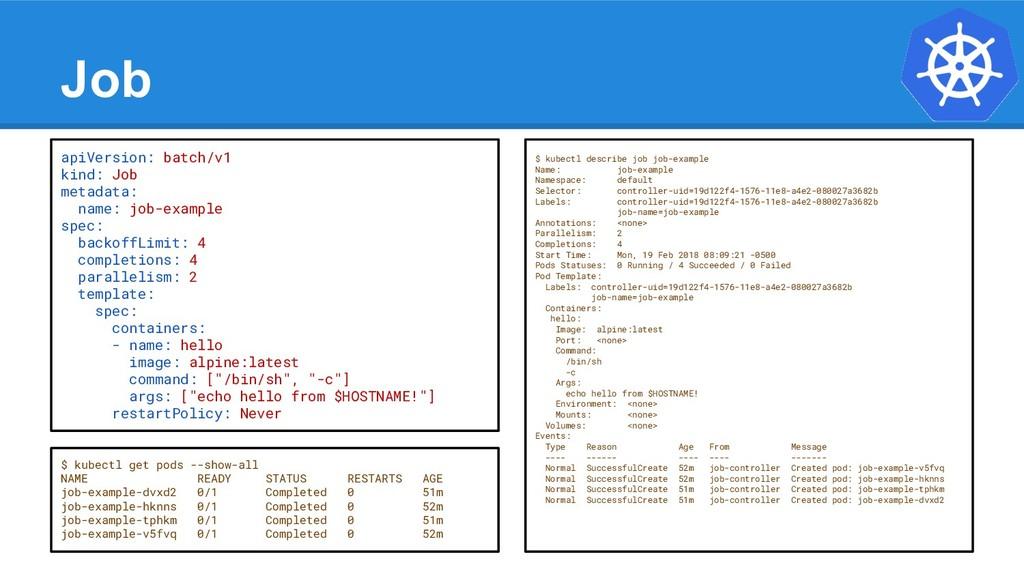 Job apiVersion: batch/v1 kind: Job metadata: na...