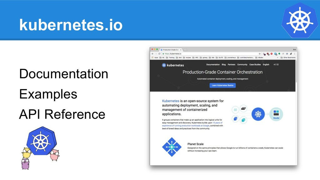 kubernetes.io Documentation Examples API Refere...